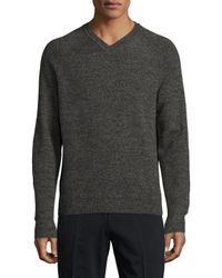 Brooks Brothers Red Fleece - Gray Lightweight Marled V-neck Sweater for Men - Lyst