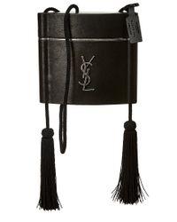 Saint Laurent Black Medium Opium Leather Shoulder Bag