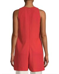 French Connection Red Solid Romper