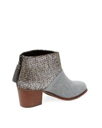 TOMS Brown Leila Leather Bootie