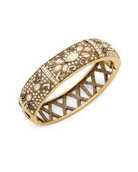 Heidi Daus - Metallic Crystal Encrusted Bracelet - Lyst