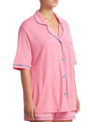 Cosabella - Pink Bella Boxer Cotton Pajama Set Extended Size - Lyst