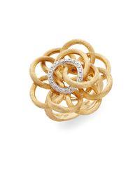 Marco Bicego | Metallic Positano Diamond & 18k Gold Flower Ring | Lyst