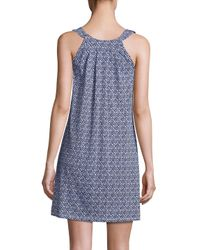 Saks Fifth Avenue Blue Collection Geometric Printed Knit Gown