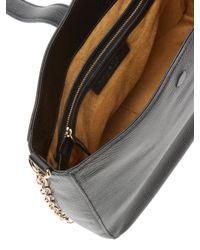 Halston Heritage Black Leather Bucket Bag