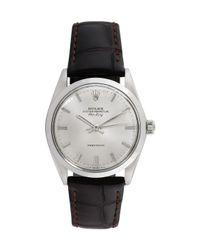 Rolex Brown Estate Rolex Stainless Steel Airking Watch, 34mm for men
