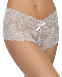 Hanky Panky White Lace Open Brief