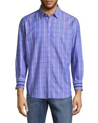 Robert Graham Blue Holborn Printed Cotton Casual Button-down Shirt for men