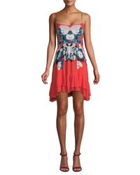 Free People Red Sweet Lucy Floral Dress