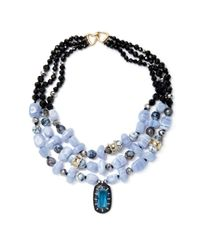 Alexis Bittar - Blue Elements Multi Strand Stone Bib Collar Necklace - Lyst