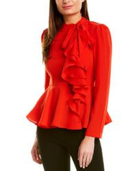 Gracia Red Blouse