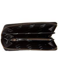 Balenciaga Black Classic Money All Over Logo Leather Zip Around Wallet