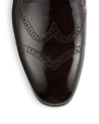 Jimmy Choo Black Patent Leather Monk-strap Shoes for men