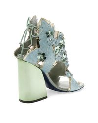 Ivy Kirzhner Blue Jardin High Heel Sandal
