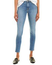Baldwin Denim Blue Karlie Pure Mid-rise Cropped Skinny Jean