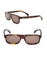 Alexander McQueen Brown 51mm Shield Sunglasses