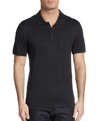 Saks Fifth Avenue Black Slim Ice Cotton Polo Shirt for men