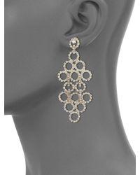 ABS By Allen Schwartz | Metallic Mixers Circle Chandelier Earrings | Lyst