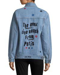 Être Cécile Blue The Real Live Bunch Oversize Denim Jacket
