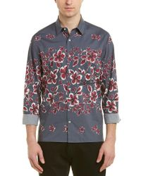 Valentino Gray Woven Shirt for men