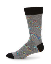 Bugatchi - Multicolor Printed Mid-calf Socks for Men - Lyst