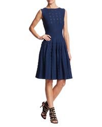 Alaïa Blue Knit Flare Dress