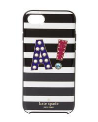 black initial iphone 7 case