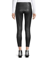 Hue Black Faux Leather Moto Skimmers