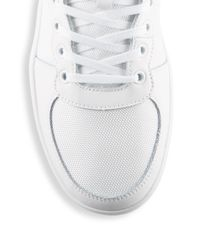 Original Penguin White Lace-up High-top Sneakers for men