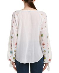 Love Sam White Beaded Top