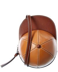 J.W. Anderson Brown Midi Cap Leather Crossbody