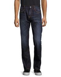 Jean Shop Blue Slim-fit Selvedge Cotton Jeans for men