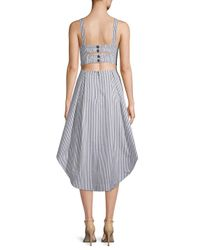 Kendall + Kylie - Multicolor Striped Cotton Dress - Lyst