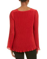Nanette Lepore Red Ticking Top