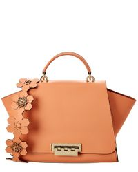 Zac Posen Multicolor Eartha Iconic Soft Top Handle Leather Satchel