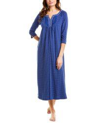 Carole Hochman Blue 3/4-sleeve Nightgown