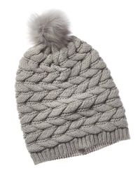 Ugg Gray Cable Pom Wool-blend Hat