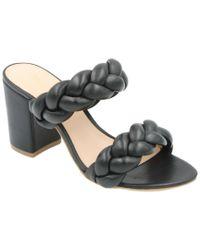 Rachel Zoe - Black Demi Braid Leather Sandal - Lyst