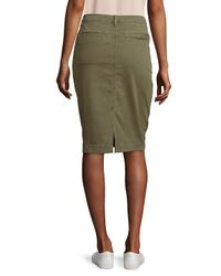 J Brand Green Ani Utility Button-up Denim Skirt
