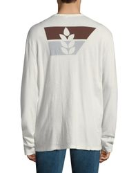 James Perse - White Cotton Crewneck Tee for Men - Lyst