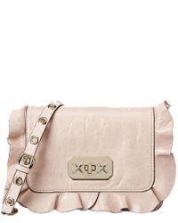 RED Valentino Pink Rock Ruffles Leather Shoulder Bag