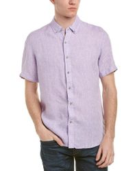 Report Purple Collection Enzyme Washed Linen Woven Shirt for men