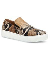 Aquatalia Natural Orilla Weatherproof Leather Sneaker