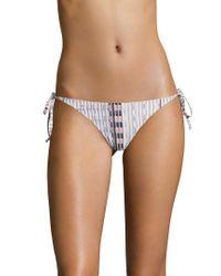 Asceno Pink Tie Bikini Bottom