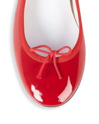 Repetto Red Bow Patent Leather Pumps