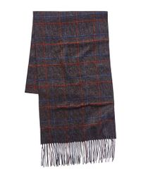 Canali Gray Silk & Cashmere-blend Scarf for men