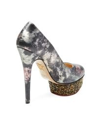 Charlotte Olympia Multicolor Dolly Platform Pump