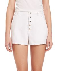Rag & Bone White Branson High-rise Shorts