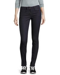 Sandro Blue Pauline Raw Five-pocket Jeans