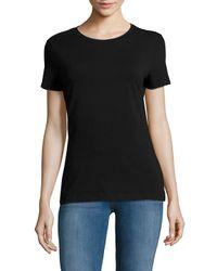 Saks Fifth Avenue Black - Black Short-sleeve Heathered Tee - Lyst
